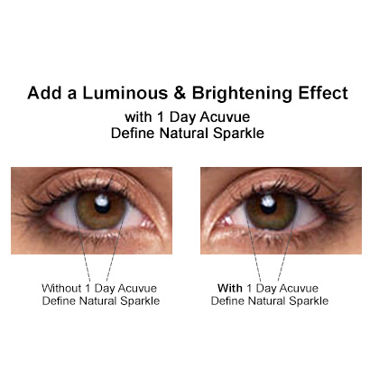 1 day acuvue define natural sparkle contact lenses | feel