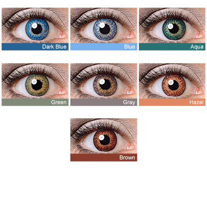 eye lens colour chart choice image chart design for project
