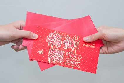 red envelopes with lucky money