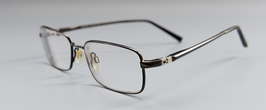 a pair of prescription glasses
