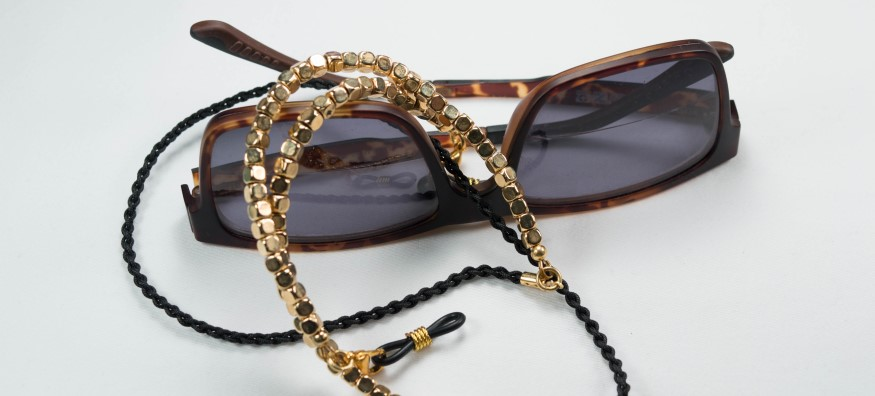 glasses with beaded chain