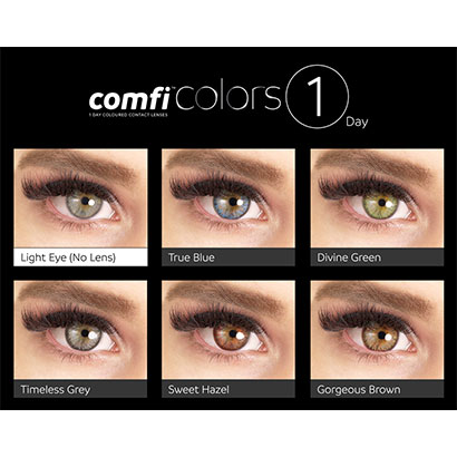 11d464cb85 comfi Colors 1 Day Rainbow Pack Contact Lenses - Free Delivery ...
