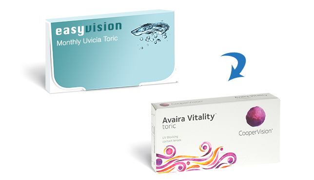 easyvision Monthly Uvicia Toric