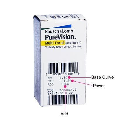 PureVision Multifocal (6 Pack) Box