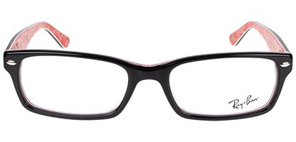 Ray-Ban RX5206 2479 54 Top Black On Texture Red