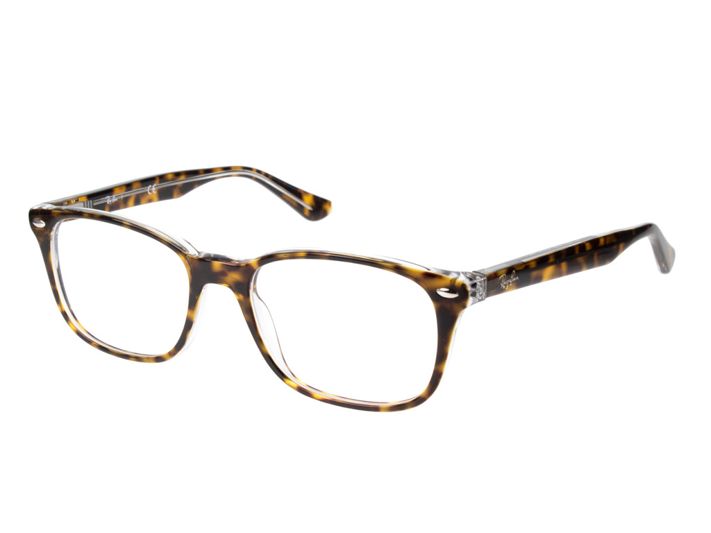 Ray-Ban RX5375 5082 53 Top Havana On Transparent