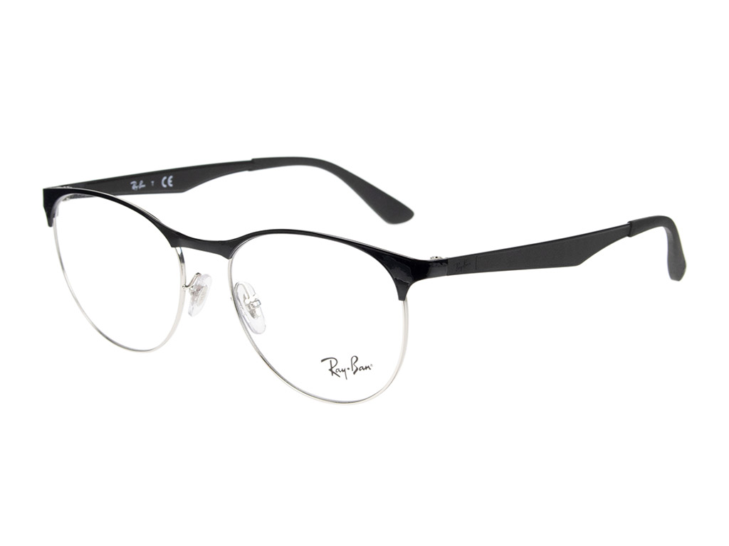Ray-Ban RX6365 2861 53 Silver Top On Black