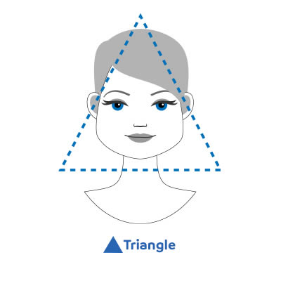 triangle-shaped faces