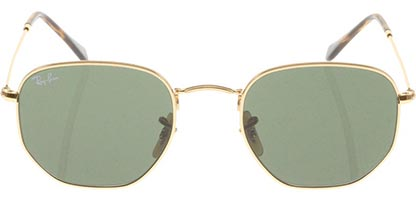 Ray-Ban RB3548N Hexagonal Gold Green 001