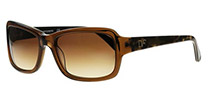 DVF 607S Angelina Crystal Brown 231