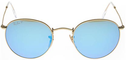 Ray-Ban RB3447 Round Flash Lenses 112 Polarised