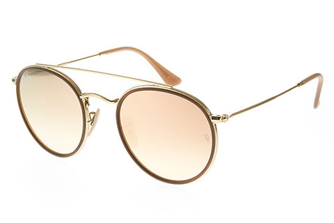 Ray-Ban RB3647N Double Bridge Gold Copper Gradient 001/70