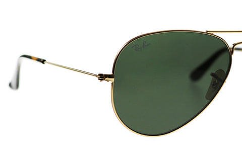 Ray-Ban RB3025 Aviator Gold Green 181