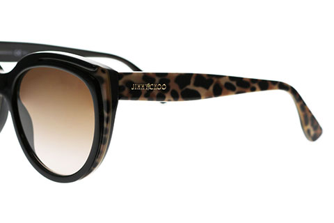 Jimmy Choo Nicky/S Animal Black PUE/J6