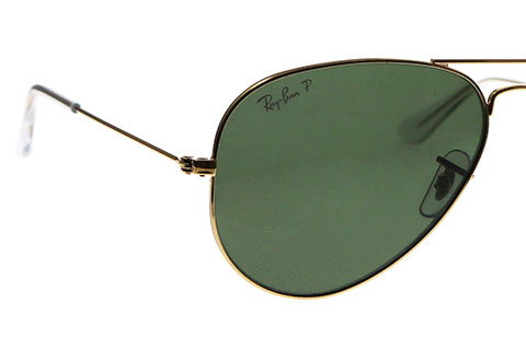 Ray-Ban RB3025 Aviator Gold Green Large 001/58 Polarised