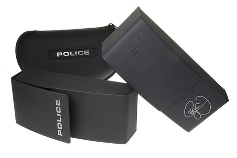 Police SPL872 Origins 1 700P Shiny Black Polarised