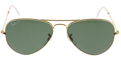 Ray-Ban RB3025 Aviator Gold Green 001/58 55