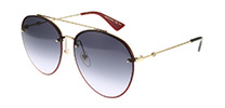Gucci GG0351S Gold Red Glitter 001
