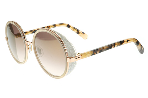 Jimmy Choo Andie/S Gold Copper Havana J7A/NH