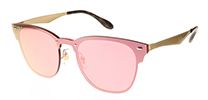 Ray-Ban RB3576N Blaze Clubmaster Gold Pink Mirror 043/E4 47