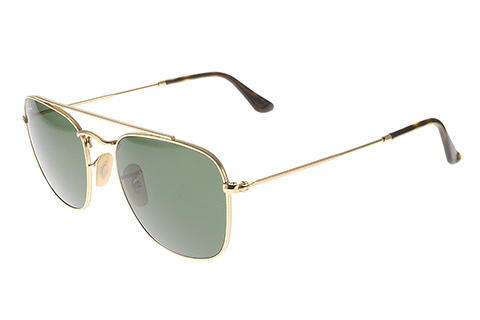 Ray-Ban RB3557 Gold Green Large 54
