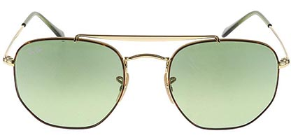 Ray-Ban RB3648 The Marshal Havana Gold Green 91034M