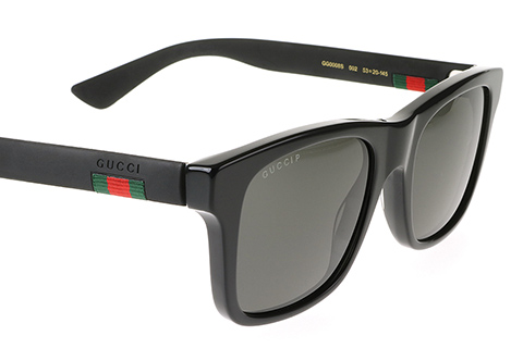 Gucci GG0008S Matte Black 002 Polarised