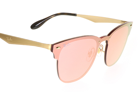Ray-Ban RB3576N Blaze Clubmaster Gold Pink Mirror 043/E4