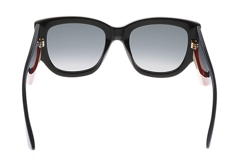 Gucci GG0276S Black Red Ivory 001