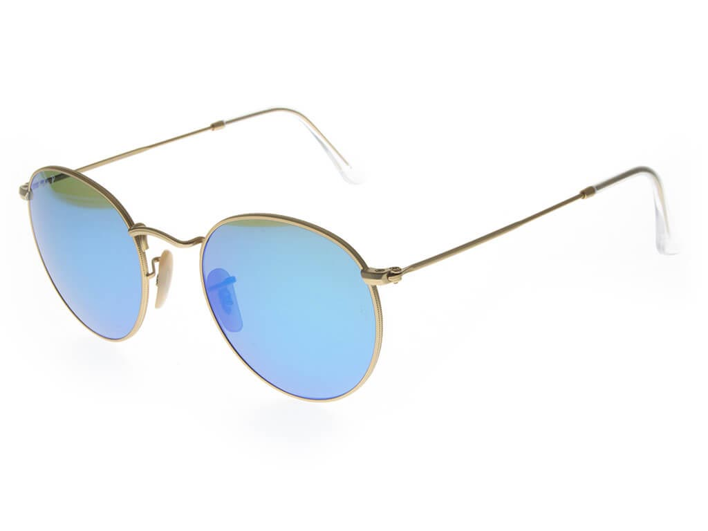 7856a198431df Ray-Ban RB3447 Round Flash Lenses sunglasses