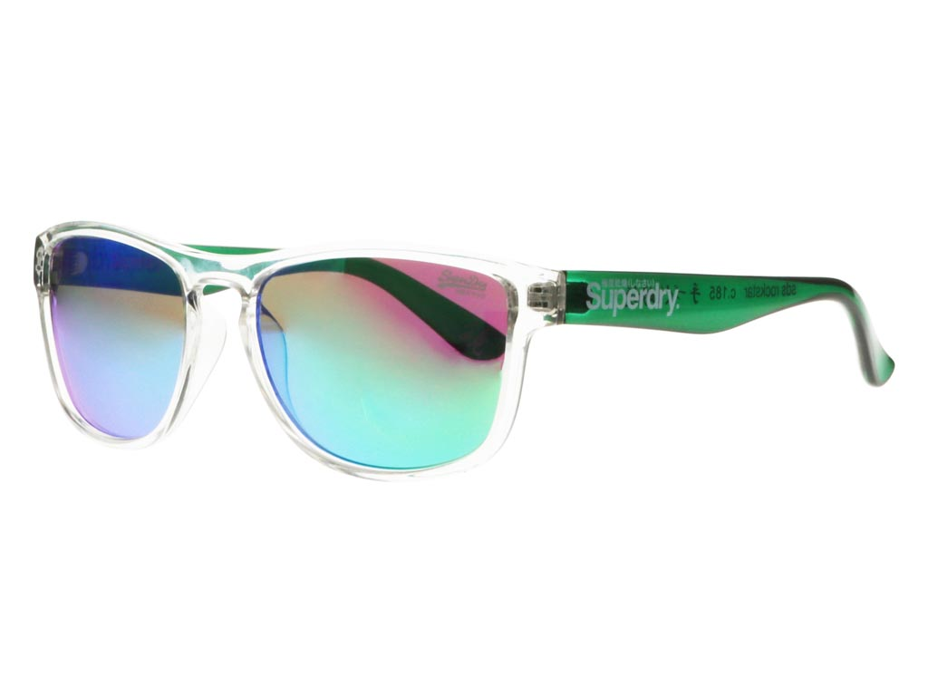 Superdry Rockstar 185 54 clear green transparent / green mirror SOc4d