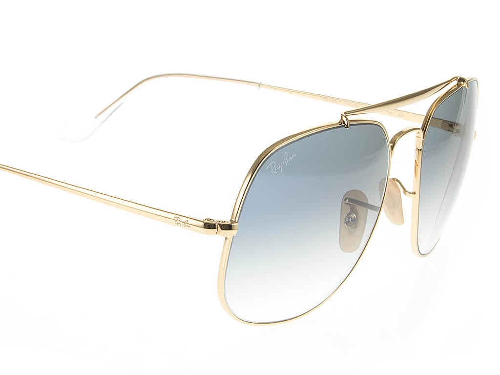 10851bc8c3 ... Ray-Ban RB3561 The General Gold Crystal Blue 001 3F57 ...