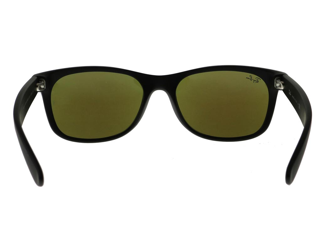46907b4535c Ray-Ban RB2132 New Wayfarer Flash Matte Black 622 17 sunglasses ...