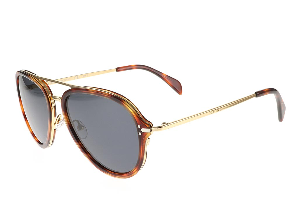 Celine Gold Frame Sunglasses : Celine Drop Gold Havana CL 41374/S FeelGoodContacts.com