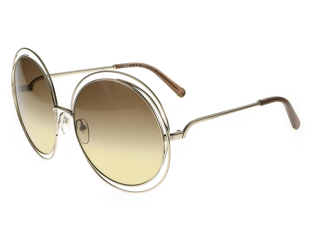 96e91c66fe6 Chloe Carlina CE114S Gold Brown sunglasses