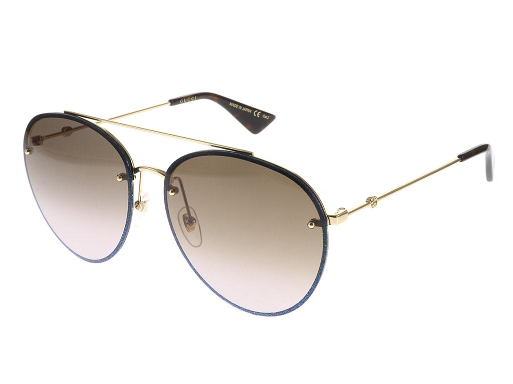 9975a05f07a Gucci GG0351S Gold Blue Glitter 002 sunglasses