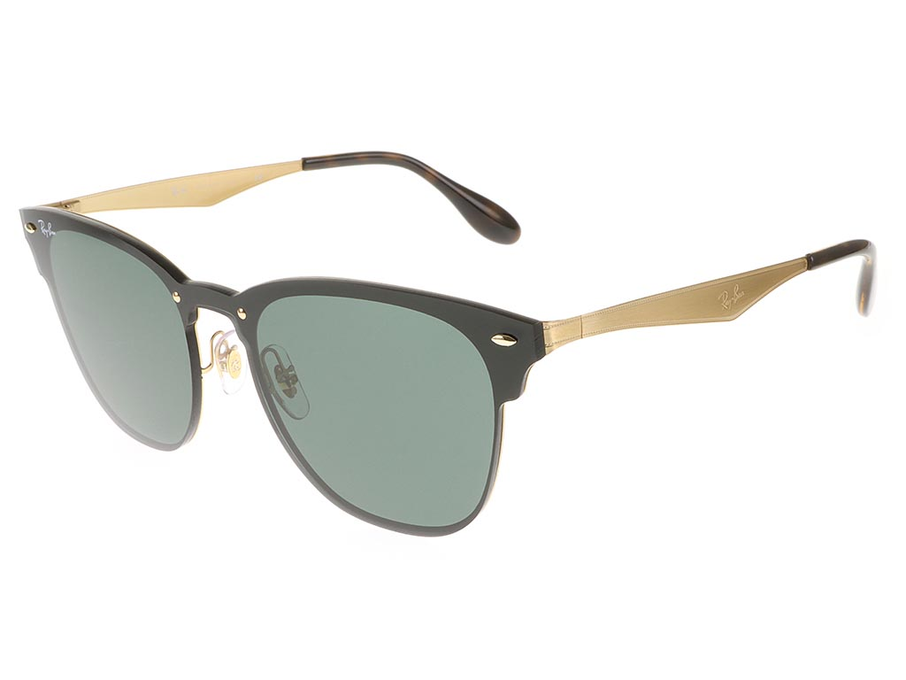 c5df8263f674a Ray-Ban RB3576N Blaze Clubmaster Brushed Gold Large sunglasses ...