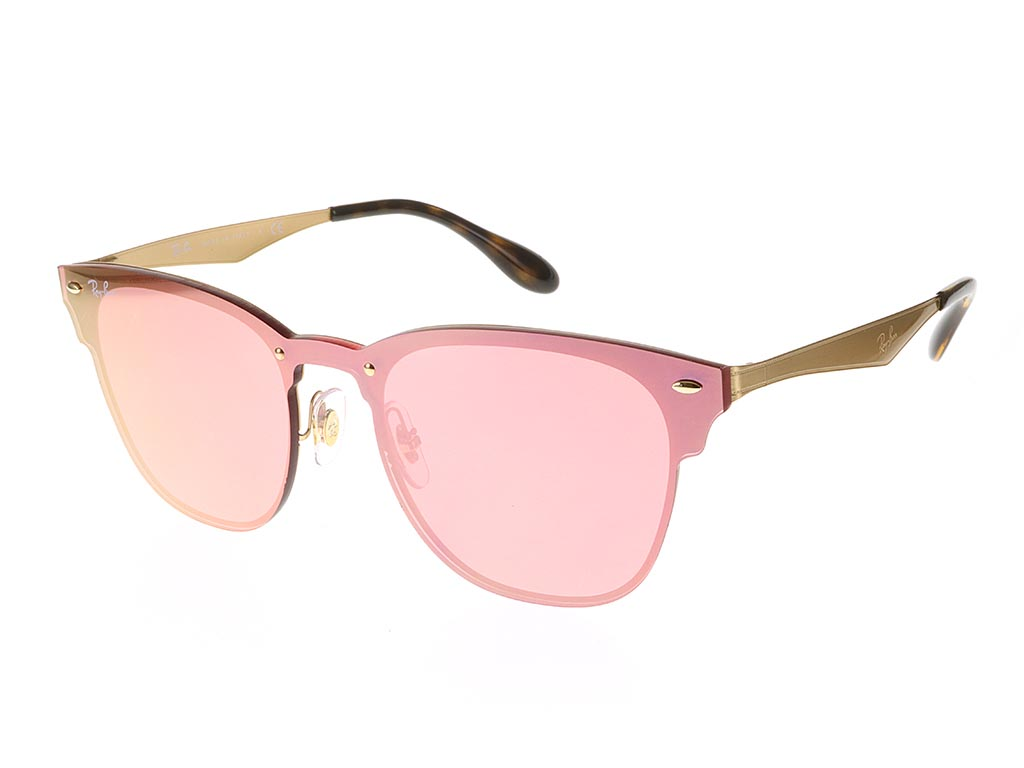Ray Ban RB 3576N Blaze Clubmaster Brusched Gold 043/E4 47 O7kJH