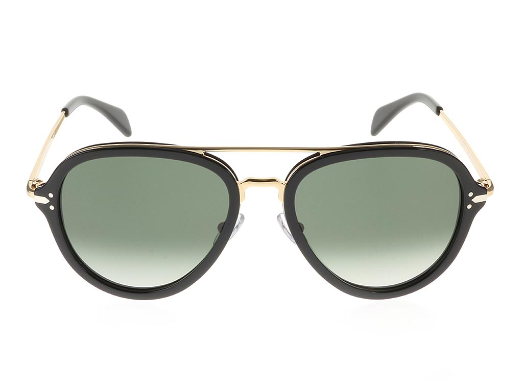 Celine Gold Frame Sunglasses : Celine Drop Gold Black CL41374/S FeelGoodContacts.com