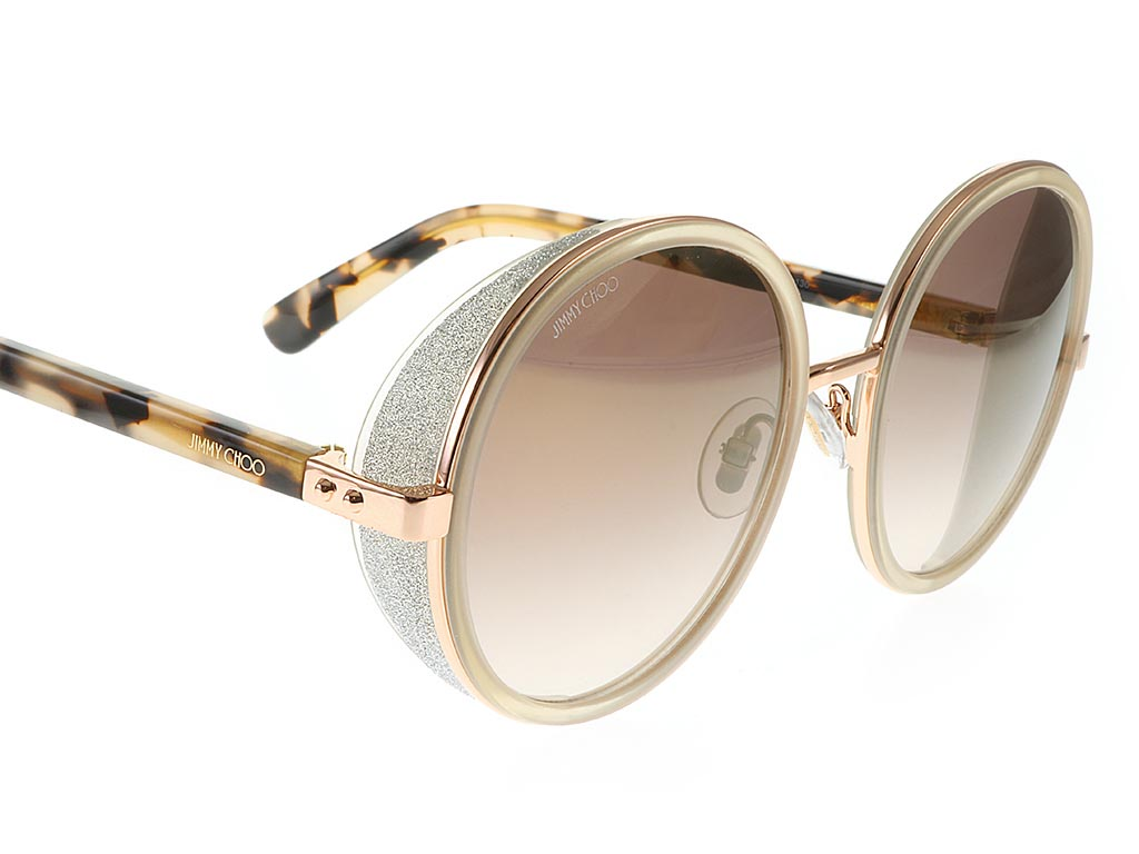 91ab09a577ce ... Jimmy Choo Andie S Gold Copper Havana J7A NH ...