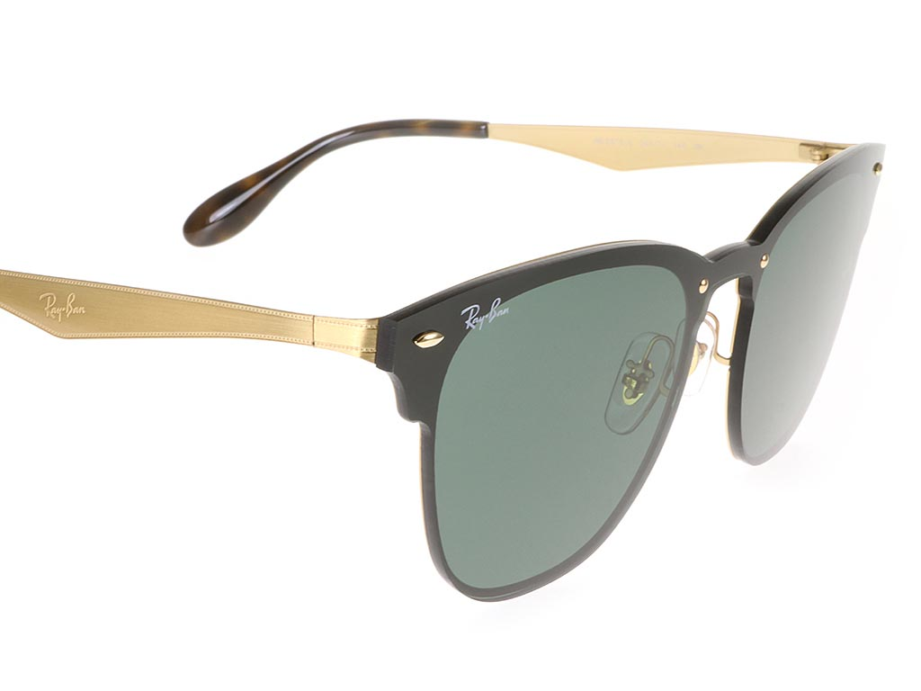 fdbafea308550 Ray-Ban RB3576N Blaze Clubmaster Brushed Gold Large sunglasses ...